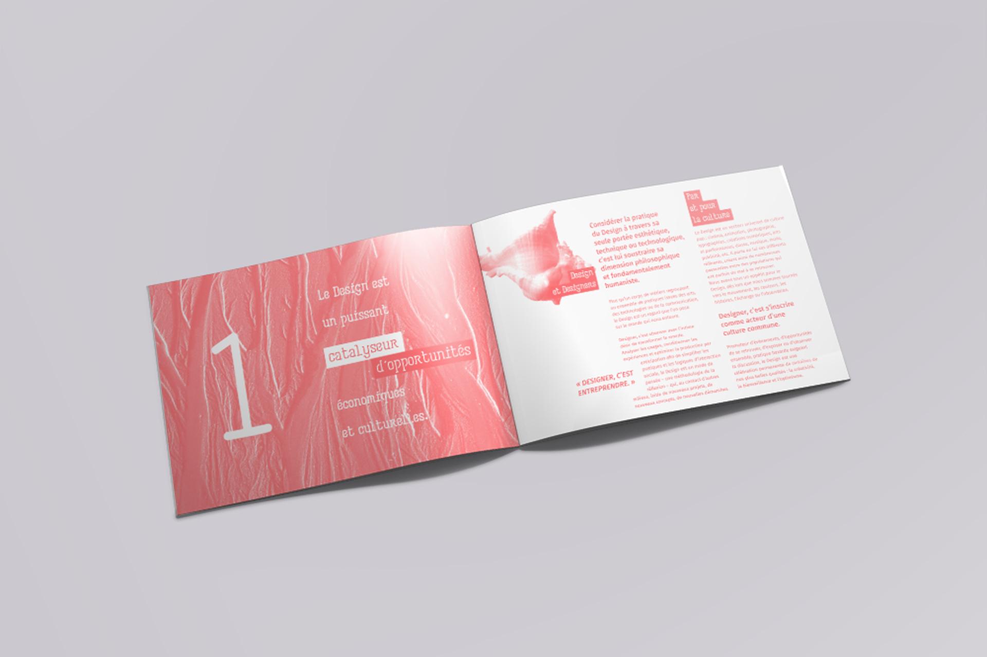 Identité visuelle, intérieur double pages institut D