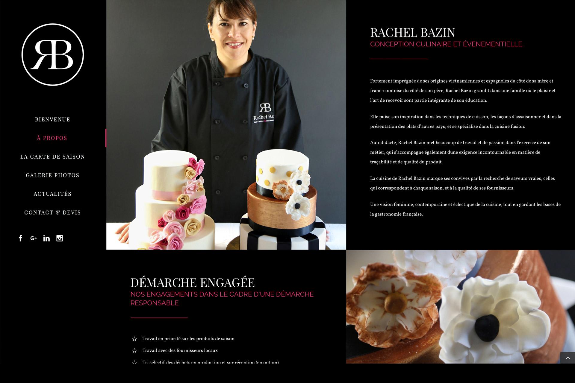 Site web portrait Rachel Bazin