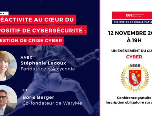 02 Sep 2019 – Conférence du 12.11.2019 à l'École de Guerre Économique