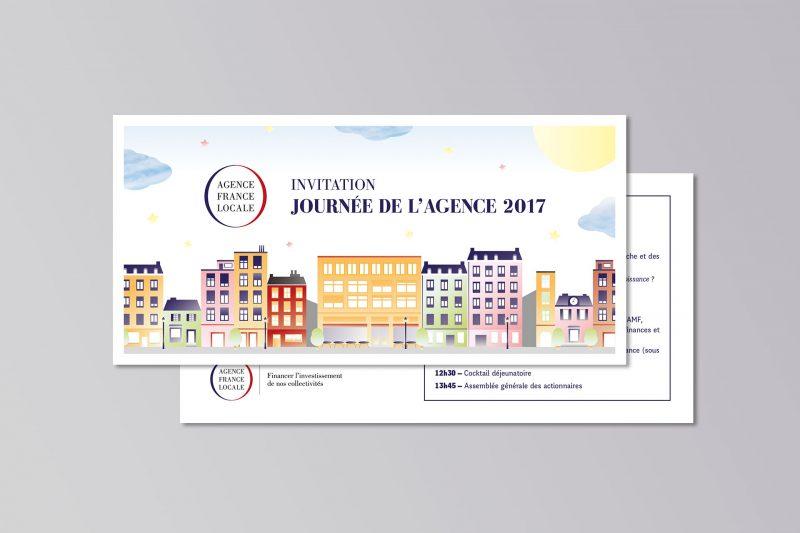 identité et illustrations pour l'Agence France Locale