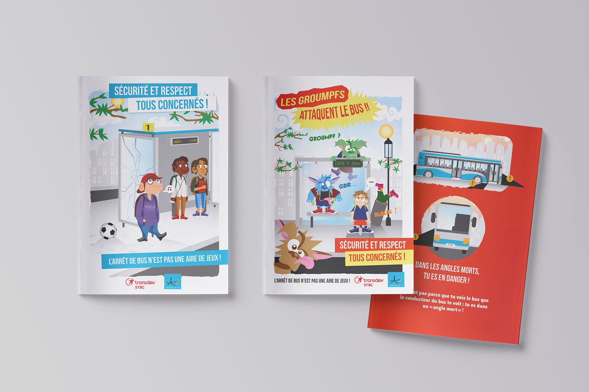 Édition guides primaires et collèges pour Transdev