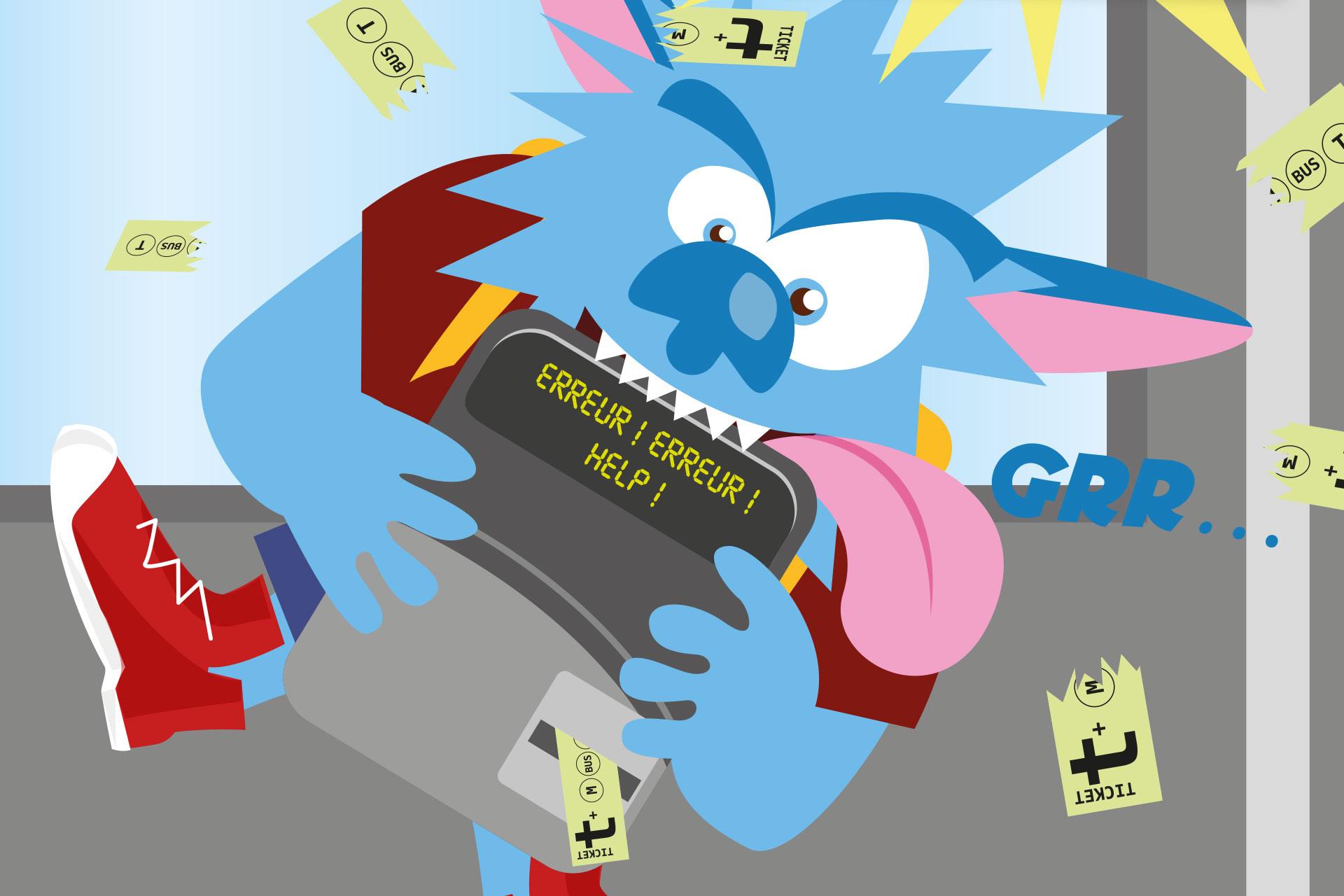 Illustration édition guides primaires pour Transdev