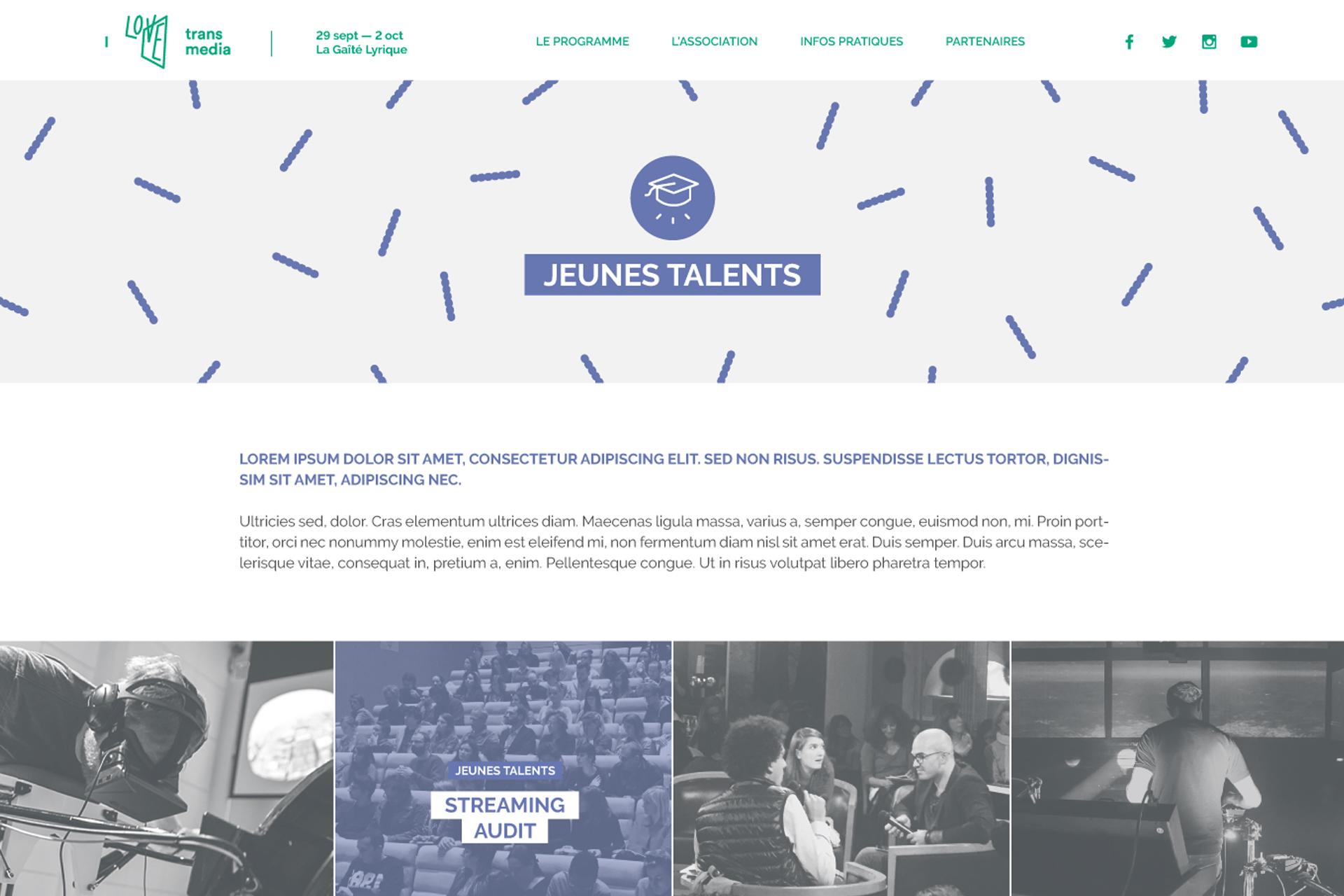 Site jeunes talents i love transmedia