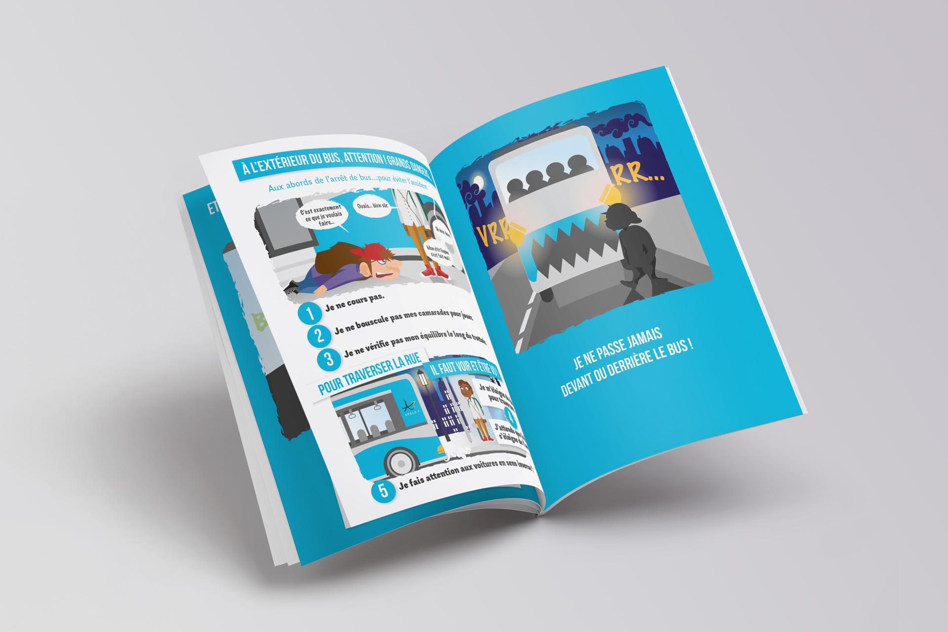 Mise en page édition guides collèges pour Transdev